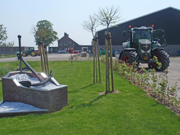 Landbouwbedrijf Het Anker van de familie Adrie Bogerman, met op de voorgrond Het Anker